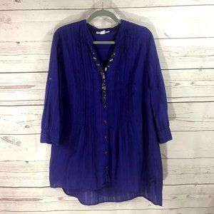 *3/$18*Style & Co 3/4 Sleeve Embellished Tunic